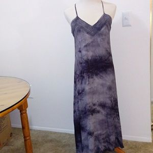 Long blue dress size M.
